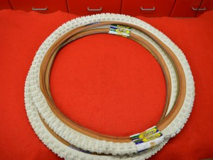 Tioga Comp III 3 20x1.75 pair tires white brown profile old school bmx NOS