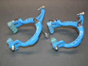 old school bmx Nos Lee Chi 1001 brake calipers set side pull blue 80s