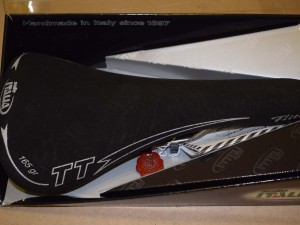 Selle Italia FLITE TT Carbon Leather matt Titanium Rails Saddle Seat Vintage NIB