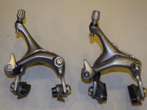 NOS SHIMANO 600 ULTEGRA BR-6403 Road brake caliper set 45mm front axle