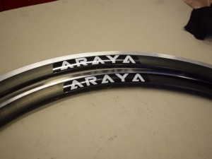 ARAYA SA-730 Rim Set 700C 28'' aluminium black 32 holes 30mm profil clincher NEW