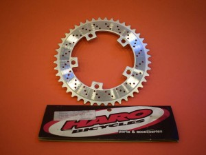 NOS Haro chainwheel chainring sprocket 44t old school bmx bcd 110mm silver