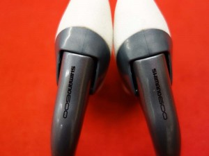 Nos Vintage Shimano 600 Ultegra BL-6403 brake levers set white rubber