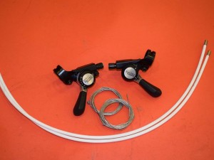 NOS Shimano Deore vintage mtb thumb shifters sl mt 60 SIS 6speed index/friction