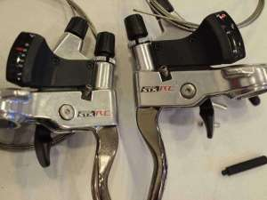 SHIMANO STX RC ST MC36 shifter brake lever Set 3x7 speed Silver Nos Vintage