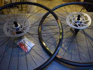 MAVIC X223 DISC wheel set 26'' MTB 32 hole SHIMANO HB/FB-rm35 hubs Center Lock