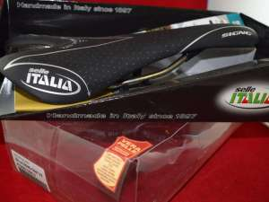 Selle Italia SIGNO (08) Genuine Leather saddle seat Vanox Rails carbon detail Black Matt