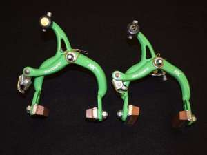 Nos Dia-Compe MX 901 set green brake calipers old school bmx STAMPED 1986