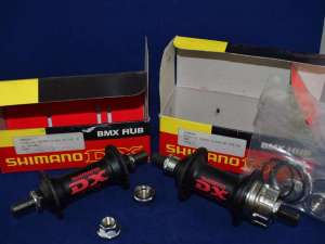 Shimano DX FH-MX66 Hub Set 36 hole black mid school BMX NIB NOS