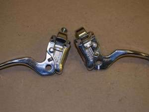 Dia-Compe MX 122 brake lever set silver Stamped 1990 MID SCHOOL BMX