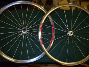RIGIDA CSB DP18 wheel Set 700c 28'' double wall rim sealed bearing hubs 8sp NOS