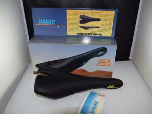 ISCASELLE DAKAR ISCA TITANIO Saddle Seat Vintage 208g 1990s Made in Italy NOS