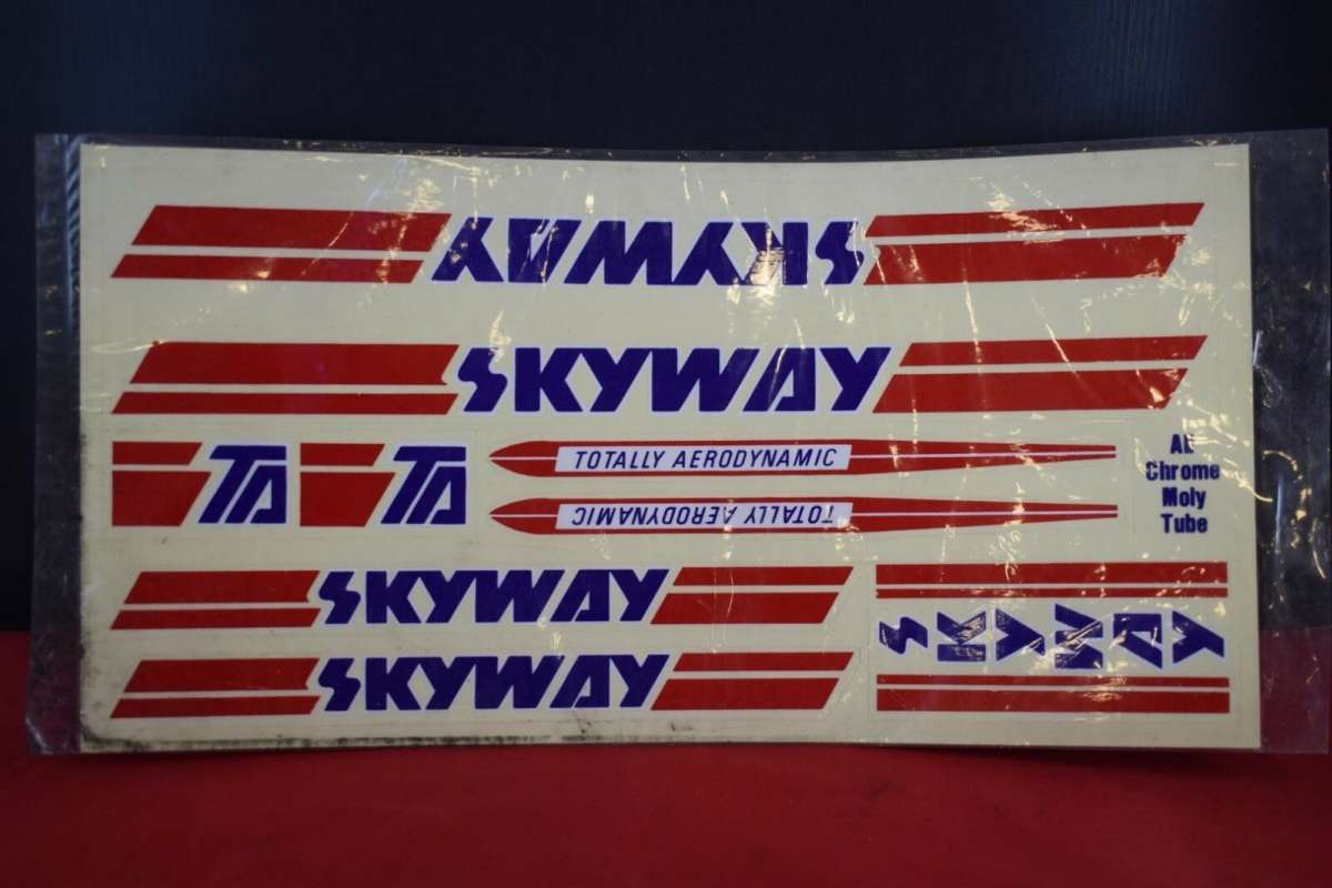 old school bmx decals stickers 1988 skyway 300ta set on clear