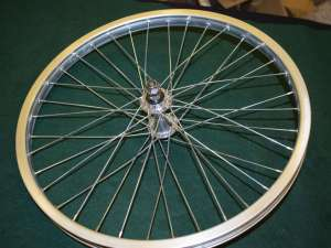 Araya MP-22 front wheel 20'' 36 hole Suzue sealed bearing hub Old School bmx
