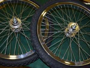 HARO HEFFER PRO wheel set 20'' MEGA HUB sealed chrome Mid school BMX 2001 NOS