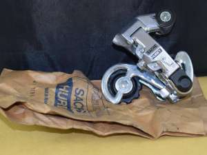 SACHS HURET RIVAL rear derailleur 5-6 speeds friction short vintage aluminium steel vintage 1980s NOS