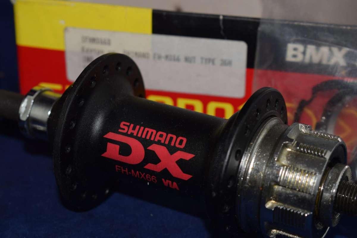 Shimano DX FH-MX66 Hub Set 36 hole black mid school BMX NIB NOS w// 18t Cog incl.